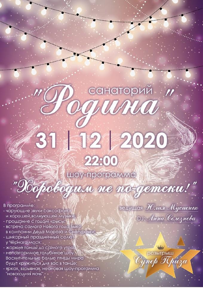 Новый год 2021 в санатории Родина